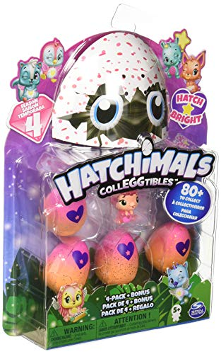 Spin Master Hatchimals Collectable 4 Pack + Bonus - Season 4 Child / Girl - Toy Figures Kits for Children (5 year (s), Boy / Girl, Chinese, 43,2 mm, 177,8 mm)