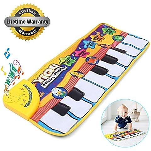 amison New Touch Play Clavier Musical Musique Chantant Tapis de gym Tapis Best cadeau pour enfant bébé