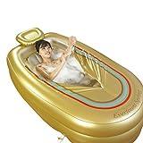 JCOCO Adult Heat Tub Große tragbare Faltbare Badewanne Barrel Verdickung Bottom Cotton Isolierung Eingebaute Rückenlehne aufblasbare Badewanne