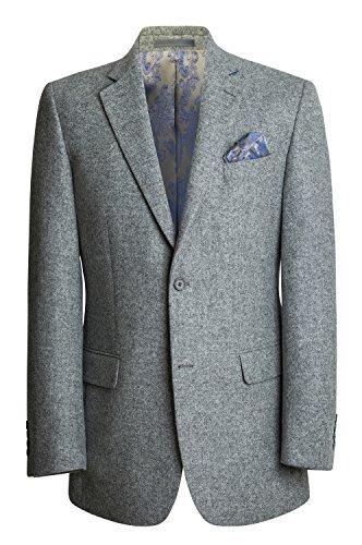 Herren Tweed Blazer - Licht Grau (38R) -