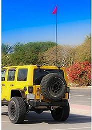 AOR Off Road 9 Feet Flag Pole, Black, FLG9B