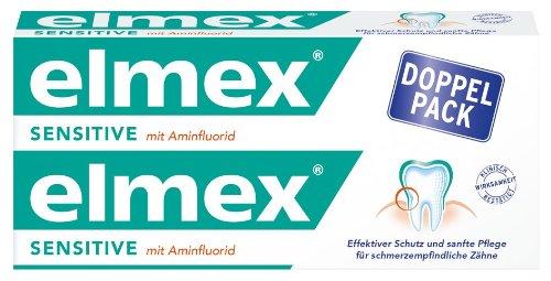 Elmex Sensitive Zahnpasta Doppelpack, 3er Pack (3 x Doppelpack á 150ml)