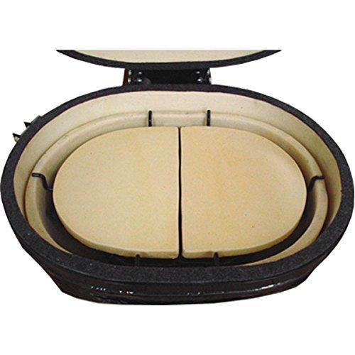 Primo Keramik Hitzeschutzplatte für OVAL 300 Large, 2er Set