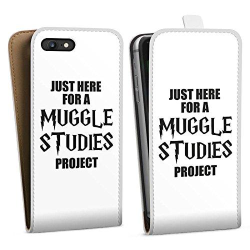 Apple iPhone X Silikon Hülle Case Schutzhülle Harry Potter Spruch Muggle Downflip Tasche weiß