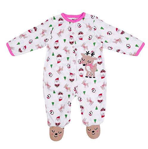 Rentiere Strampler Neugeborenen Bodysuit Weihnachts Winter Warme Outfits Overall Romper Babykleidung (Einfach Gute Halloween-kostüme Zu Machen)