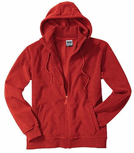 Microfleece Hooded Jacket/James & Nicholson (JN 189) S M L XL XXL 3XL, rot, XXL -