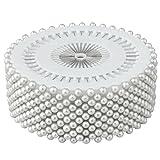 Accessories Attic - Confezione di 480spilli con testa a forma di perla, ideali per decorazione di nozze, artigianato e sartoria, colore: bianco