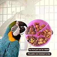 Arvin87Lyly Comedero pájaros Alimentador de Loro Masticar Juguetes, Juguete de alimentación de Rompecabezas, pájaro Caja de Comida con Compartimiento Separado