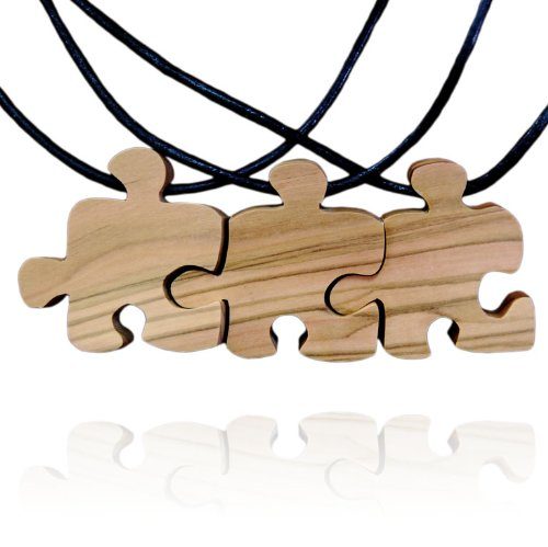 handmade-olive-wood-three-friends-puzzle-piece-friendship-necklaces-matte-finish-fair-trade