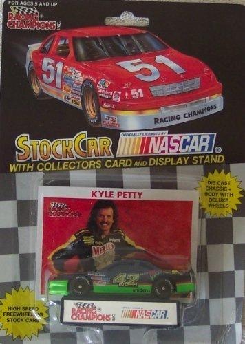 1991-nascar-racing-champions-kyle-petty-mello-yello-1-64-diecast-includes-collectors-card-and-displa