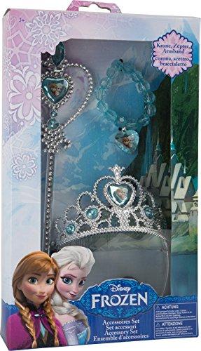 Frozen Schmuckset Verkleidungsaccessoires Prinzessin 3er Set