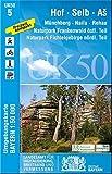 UK50-5 Hof, Selb, As: Münchberg, Naila, Rehau, Naturpark Frankenwald östl.Teil, Naturpark Fichtelgebirge nördl.Teil, Bad Lobenstein, Hirschberg, ... Karte Freizeitkarte Wanderkarte, Band 5
