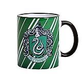 Harry Potter Slytherin Hogwarts Wappen Tasse Draco Malfoy Tom Riddle Symbol Elbenwald Keramik 9,4cm 300ml
