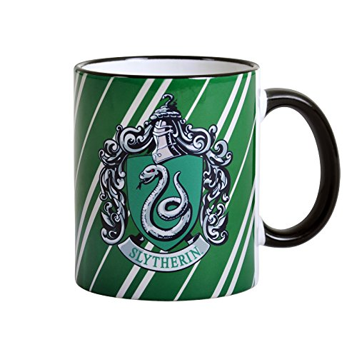 Elbenwald Harry Potter Slytherin Hogwarts Wappen Tasse Draco Malfoy Tom Riddle Symbol Keramik 9,4cm 300ml