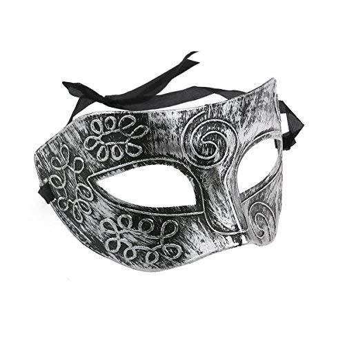 Veewon Venetian Herren Kostümball Masken Gesichtsmaske für Party, Kostümball, Maskenball , Halloween (Silber)