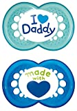 MAM Babyartikel 67635200 Original Silikon I love Daddy, boy, 6 - 16 Monate, Doppelpack