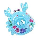 VORCOOL Baby Kinder Schwimmsitz Aufblasbare Krabben Schwimmhilfen für Wasserspaß Familienspaß in See Meer Schwimmbad (Blau)