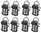 8 x Garden Solar Power Hanging Light LED Outdoor Lighting Black Tree Ornament - A Great Addition For Your Garden.
