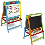Fisher Price Wooden Double Sided Art Easel 2in1 Chalkboard Magnetic Childrens Kids Drawing