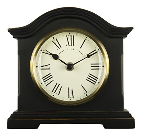 Towcester Clock Works Acctim 33283 Falkenburg Reloj de Chimenea, Color Negro