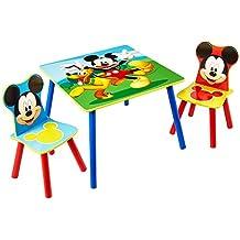 Sitzgruppe Kinder Mickey Mouse - Kindertisch mit 2 Stühlen - Kindersitzgruppe