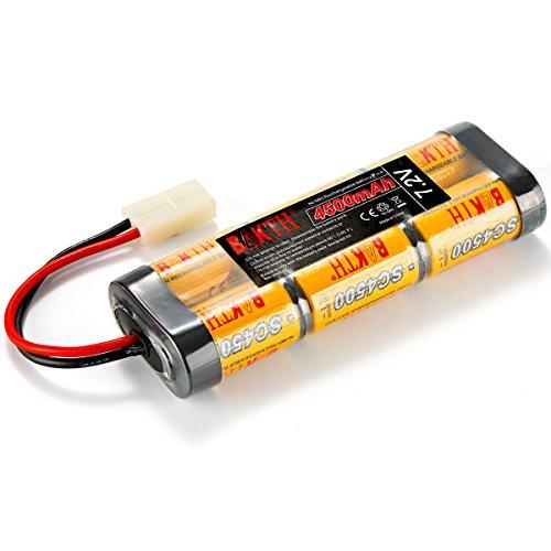 BAKTH 7.2V 4500mAh NiMH RC Paquete de carreras de baterías con tapón Tamiya para modelos de coches, aviones, robots (juguetes), batería de alto rendimiento RC + posavasos como regalo