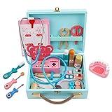 Foxom Arzt Spielzeug Holz , 34 Stück Doktor Spielzeug Kinder Kit -Zahnarzt Spielzeug Medical Suite für Kinder 3 Jahre alt