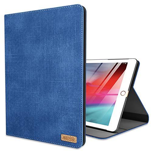 TORRAS Neues iPad 9.7 Zoll 2018/2017 Hülle, Ultra Dünn Smart Case Denim Hochwertiges PU Leder Schutzhülle mit Ständer und Auto Einschlaf/Aufwach Funktion Hülle für Neu iPad 9.7 2018/2017 - Blau