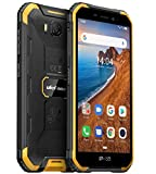 Ulefone ARMOR X6 Rugged Smartphone Economico, Telefono Antiurto IP68 Android 9.0, Dual SIM, Quad-core 2GB + 16GB, Fotocamera 8MP + 5MP, Batteria 4000mAh, 5'' Schermo HD, Sblocco Viso GPS Arancia