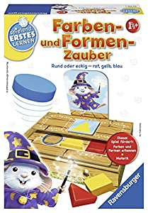 Ravensburger Farben- und Formen-Zauber Juego Educativo Niños - Juego de Tablero (Juego Educativo, Niños, Niño/niña, 1,5 año(s), 170 mm, 230 mm)