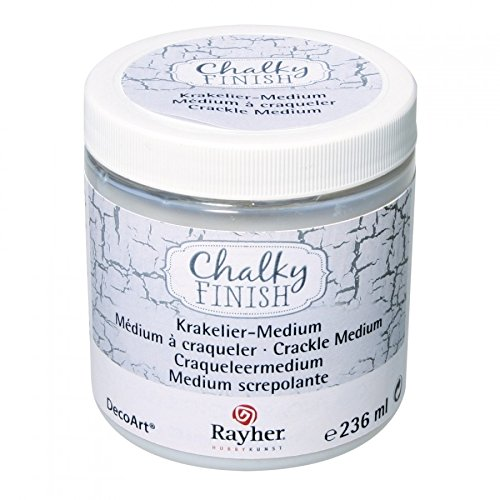 Rayher 38879000 Chalky Finish Krakelier-Medium, Farblos, Dose 236ml, für Antike Reißeffekte,...
