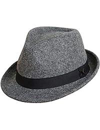 Amazon.it  cappello lana donna - Cappelli Fedora   Cappelli e ... 98412fb80764