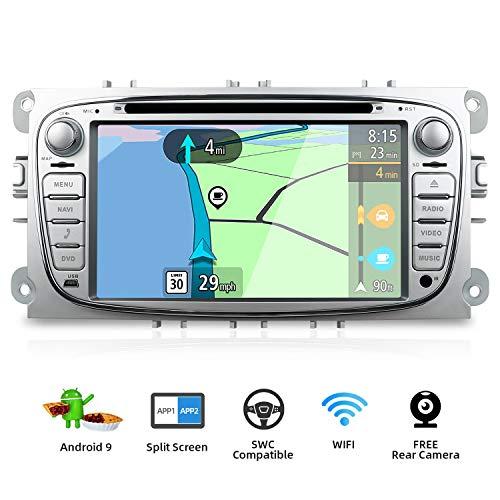 BXLIYER Android 9.0 Autoradio Compatible para Ford Focus/Mondeo/S-Max/C-Ma/Galaxy Coche Navegacion GPS Bluetooth...
