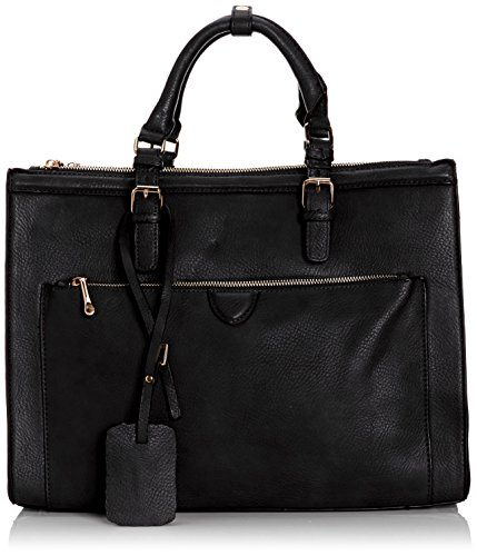 Swankyswans Marcella Cosmo Work Bag, Damen Schultertaschen Schwarz (Schwarz)