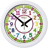 Horloge murale pour enfants « EasyRead Time Teacher », avec affichage (numérique) 12 et 24 heures. Apprendre à lire l'heure numérique sur une horloge analogue grâce au système d'enseignement en 2 étapes d'une grande simplicité. Cadran de 29 cm, pour enfant âgés de 5 à 12 ans.