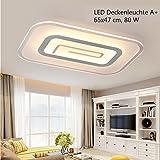 Plafonnier LED 1614–65x 47. Avec télécommande est la couleur de la lumière de la couronne/luminosité variable a + LED Luminaire de salon lampe suspension plafonnier plafond Spot Plafonnier LED