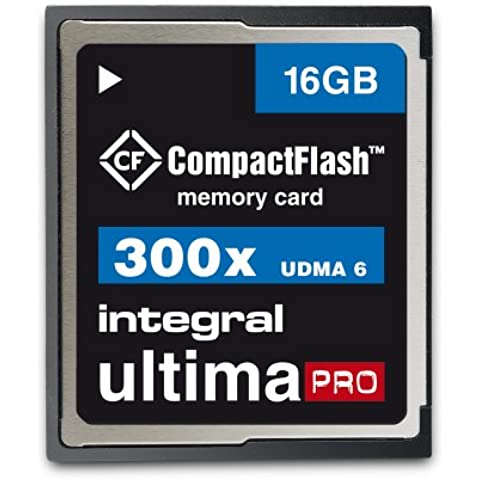 Integral CompactFlash UltimaPro INCF16G300W - Tarjeta de memoria (128 GB, 300 x) 16 gb
