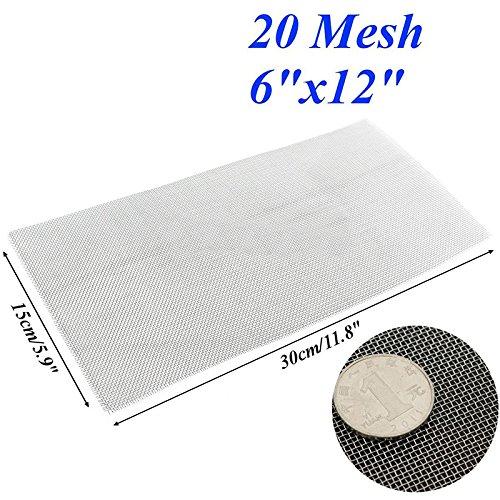 20 Mesh Edelstahl Gewebte Tuch Bildschirm Draht Filter Blatt Fliegengitter 150 X 300mm (Tuch Draht)