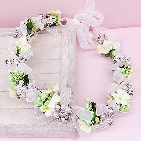 Le ragazze di fiori era adornata con perle rosa ghirlande e ornamenti vacanze estive sposa vacanza mare accessori festa raduni Halloween Natale ,4