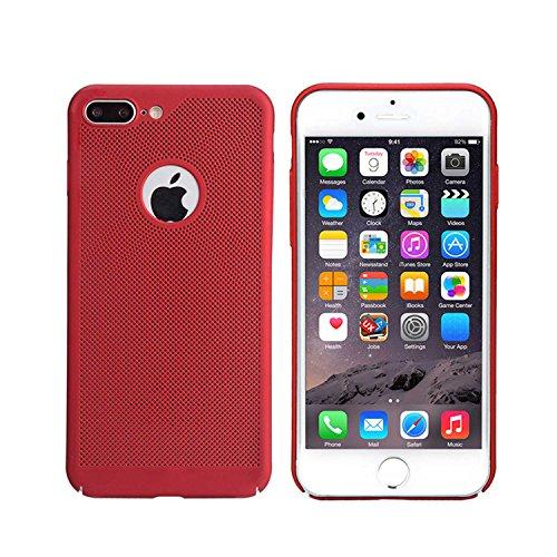 "MOONCASE iPhone 7 Plus/iPhone 8 Plus Hülle, Rugged PC Rüstung Wärmeableitung Handyhülle Ultra Thin Fallschutz Anti-Scratch Schutztasche Case für iPhone 8 Plus 5.5"" Rose Gold Red"