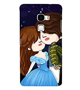 Cute Love Couple 3D Hard Polycarbonate Designer Back Case Cover for LeTv Le Max :: Letv Le Max X900