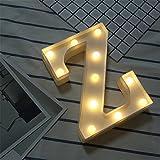 DIY LED Brief Beleuchtung Alphabet Event Dekoration Nachtlichter Stimmungslicht Schlummerleuchten Lampen Kunststoff Dekorationen für Geburtstag Party Hochzeit (Z)