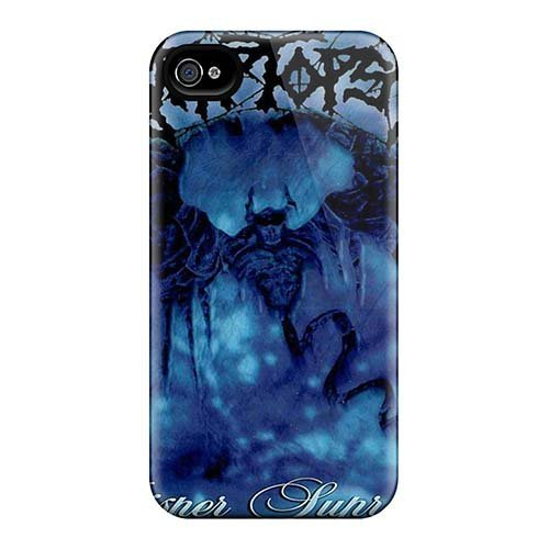 Durable cell-phone hard Covers for iPhone 4/4S (DAO2004EDTN) Custom Colorful Cryptopsy Band pattern