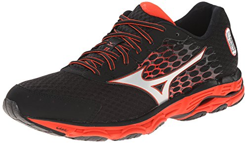 Mizuno Wave Inspire 11 Synthétique Chaussure de Course Black-Silver-Red