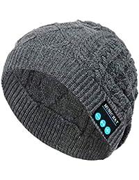 EUCoo Cappello Unisex Berretto Bluetooth Cuffia Wireless Cuffia con  Altoparlanti Mantieni Caldo Berretti Invernali b6dd65c31c56