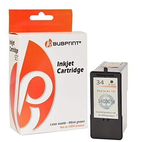 Bubprint Druckerpatrone kompatibel für lexmark 34 für P4310 P4330 P4350 P6250 X2510 X3330 X3550 X4550 X5250 X5470 X5495 X7170 X7350 Z1420 Schwarz (Tintenpatronen X5470 Lexmark Für)