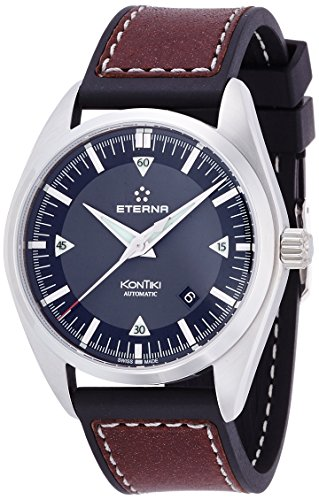 Mens Eterna KonTiki Date Automatic Watch 1222.41.41.1301