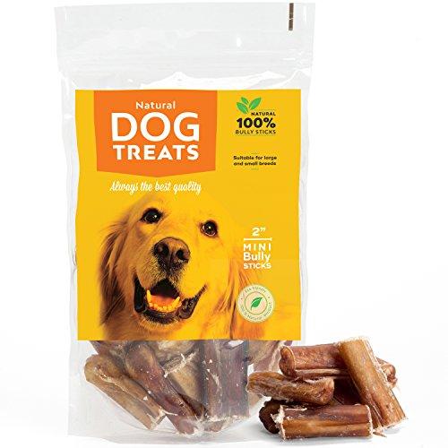 Natural Dog Treats 100% Natürliche Mini Premium-Qualität Bully Pizzle Sticks für Hunde, 30 Stück