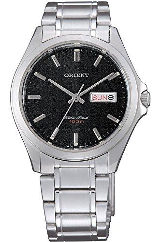 Orient Unisex Erwachsene Analog Quarz Uhr mit Edelstahl Armband FUG0Q004B6