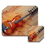 Violin and Sheet Music Set of 4 Placemat and Coasters by Fancy A Snuggle
